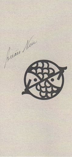 A pisces tattoo.