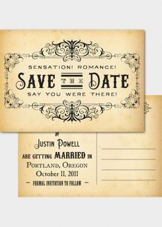 Steampunk wedding invite rsvp