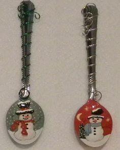 Audiz Creations: Christmas Hand Painted Spoon Ornaments...