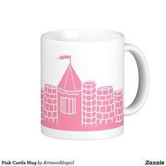 Pink Castle Mug; Abigail Davidson Art; ArtisanAbigail at Zazzle