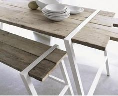 Table outside wood