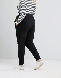 Peg Trouser with Tie Waist