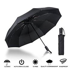 Jian E Automatic Umbrella Three Folding Umbrellas Womens Rain and Rain Dual-use Sun Umbrella Sunscreen UV Protection Color : A