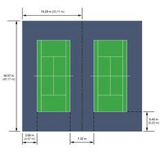 Simple badminton court plan