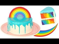 RECETTE RAINBOW CAKE FACILE 🌈🍰 - GÂTEAU ARC-EN-CIEL - YouTube Tasty, Yummy Food, Food Videos, Birthday Cake, Cooking, Recipes, Pains, Milan, Album
