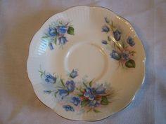 Vtg Royal Albert Shabby Chic Blue Floral Bone China England Tea Cup Saucer Set | eBay