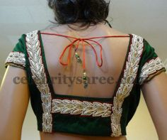 Pearls Blouses in Green Color | Saree Blouse Patterns