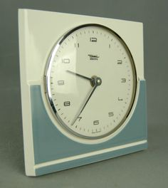 Diehl Retro 1970s Ceramic Kitchen German Wall Clock