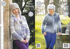 King Cole Super Chunky Pattern - Ladies V & Round Neck Cardigans (4287) - Mill Outlets
