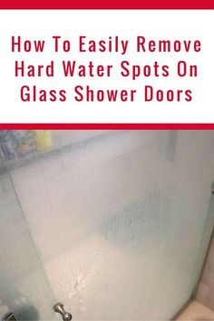 Reduce Water Retention How To Easily Remove Hard Water Spots On Glass Shower Doors - Discover how to clean glass shower doors with hard water stains with products you probably already have sitting around your house. Simply and easy. Household Cleaning Tips, Deep Cleaning Tips, Toilet Cleaning, House Cleaning Tips, Diy Cleaning Products, Spring Cleaning, Cleaning Hacks, Cleaning Solutions, Cleaning Schedules