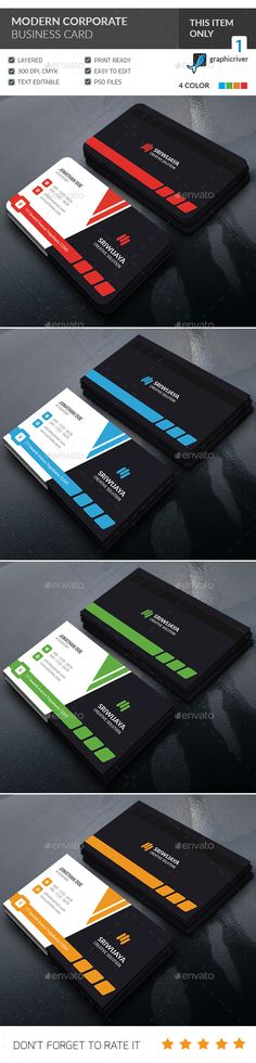Buy Modern Corporate Business Card by GOWES on GraphicRiver. This is a Modern Corporate Business Card . This template is 300 dpi print-ready CMYK 02 PSD files. All main elements . High Quality Business Cards, Blank Business Cards, Cleaning Business Cards, Printable Business Cards, Cool Business Cards, Corporate Business, Business Card Design, Construction Business Cards, Construction Birthday