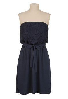 Crochet Top Tube Dress // have this dress and love it! wear it with wedges and a belt - so comfy and cute!