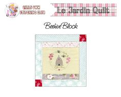 5.The Girls Own Stitching Club- Beehive Block. - Red Brolly