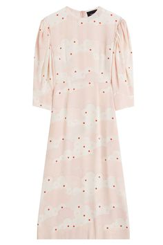 Cheap Sale From China Maddison Ruffled Floral-print Silk Crepe De Chine Midi Dress - Lilac VILSHENKO Pick A Best For Sale From China aU14q0