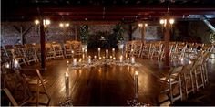 May have to consider this set up at the ceremony...create intimacy in a large space