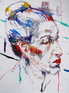 edwige fouvry: dessins 2013  oil pastel on paper
