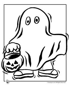 Trick Or Treat Coloring 2 Cute Halloween Pages