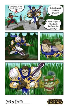 League of legends humor: Garen in the bushes by Ikleyvey.deviantart.com on @deviantART