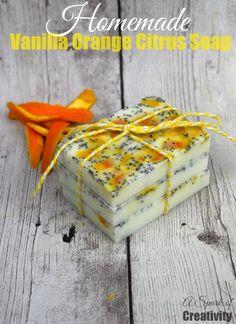 Homemade Vanilla Orange Citrus Soap - A Spark of Creativity