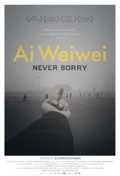 """""""Ai Weiwei: Never Sorry"""" (2012) is more about the artist's fight for transparency in government and individualism, than about his artworks. Ai is extraordinarily brave, and if the mark of a great artist is the degree at which people get inspired, then his career is an absolutely successful one. 4 stars."""