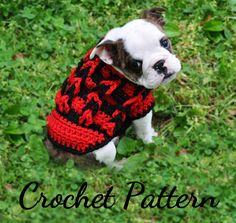 Crochet+Sweater+Patterns | Crochet Pattern - Crochet Small Dog Sweater Decorative Loop Design ...