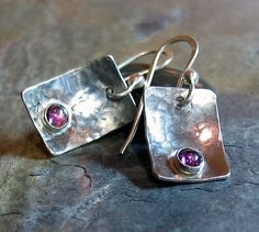 Sterling+Silver+Earrings+with+Pink+Garnet++by+LavenderCottage,+$39.00