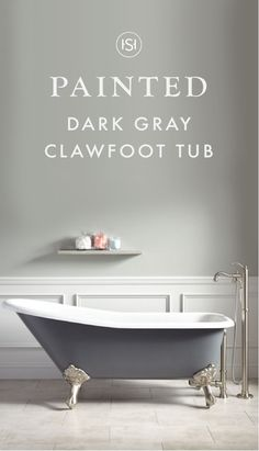 "This 66"" Goodwin Cast Iron Clawfoot Tub with Imperial Feet and a dark gray finish is one-part modern and one-part elegant—making up the perfect style equation! Add this classic soaker to a bathroom renovation to makeover the look and feel of your master suite."