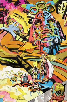 Jack Kirby Pro Magazine Illustration Original Art 1972.