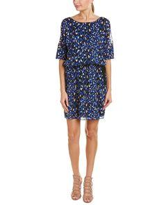 Trina Turk Tobi Silk-Blend A-Line Dress is on Rue. Shop it now.