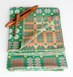 Blodwen - Vintage Tapestry Blanket c. 1950