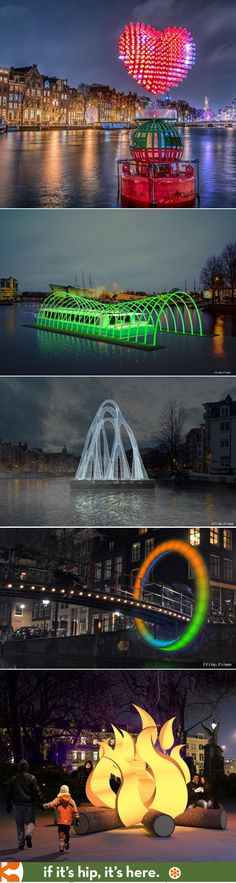 25 Great Photos of the Third Amsterdam Light Festival | http://www.ifitshipitshere.com/25-illuminating-photos-third-amsterdam-light-festival/