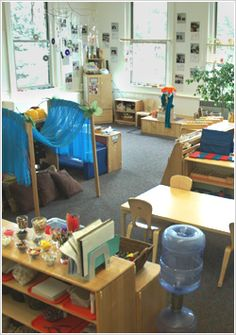 Reading area can also be use as a personal area when young children need some quiet and alone time by themselves.