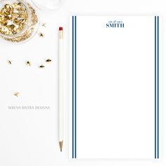 navy wedding, navy blue wedding, nautical wedding, sister in law wedding gift, bride gift from bridesmaid, customized gifts for her, stationery letter sheets, wedding notepad, office organization by serenariveradesigns.etsy.com
