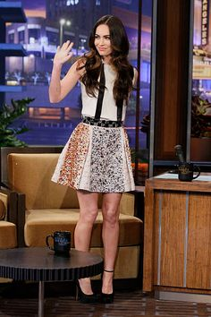 Actress Megan Fox during an interview on February 27 2012