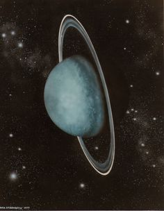 Uranus.... this is the planet that was knocked on it's side by another planet.....