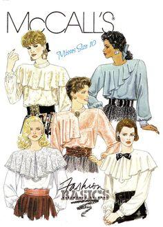 1980s Misses' Blouse Sewing Pattern  1989 by KeepsakesStudio, $4.99