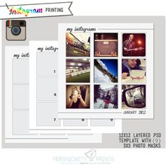 Free PSD templates for your Instagram photos!