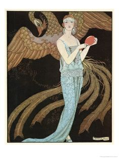 Blue Dress by Beer, Georges Barbier