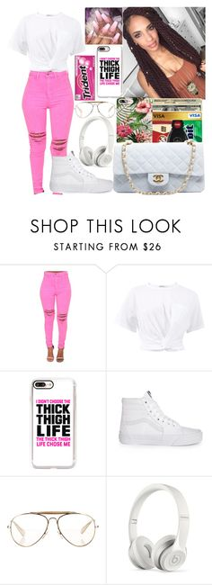 """"""""""" by officially-mya ❤ liked on Polyvore featuring T By Alexander Wang, Casetify, Vans, Market, CÉLINE and Beats by Dr. Dre"""