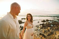 Seaside Maternity Shoot -- Anna Kim Photography