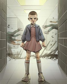 Stranger Things - S01E08  Dr. Brenner holds Hopper and Joyce for questioning while the boys wait with Eleven in the gym. Back at Will...