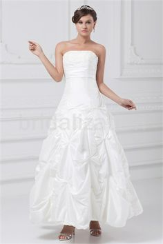 Fantastic Beading A-Line Natural Strapless Summer Wedding Dresses