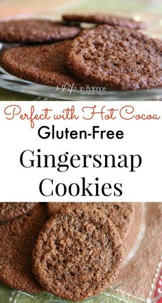 Gluten-Free Gingersnap Cookies -- These are the perfect snack for fall or winter with a mug of hot cocoa.