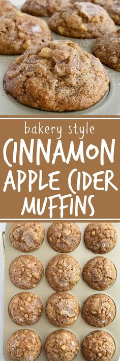 Soft cinnamon apple cider muffins loaded with chunks of apple and topped with a generous helping of cinnamon & sugar! These muffins will make your house smell amazing. These muffins are a must make recipe for Fall | www.togetherasfamily.com #muffinrecipes #applecider #cinnamonmuffinrecipes #applerecipes