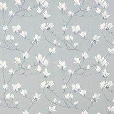 Magnolia Grove Slate Grey Wallpaper
