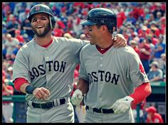 Pedroia & Ellsbury..my two favorites..have almost this exact picture in my dining room