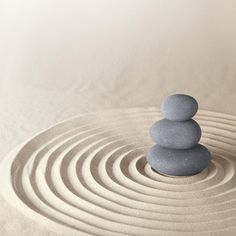 Picture of Japanese zen garden meditation stone for concentration and relaxation sand and rock for harmony and balance in pure simplicity stock photo, images and stock photography. Zen Garden Design, Zen Design, Creative Design, Zen Meditation, Mini Zen Garden, Garden Art, Japanese Garden Zen, Wabi Sabi, Conception Zen