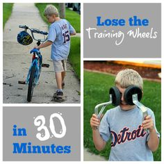 Teach your child to ride their bike without training wheels in 30 minutes