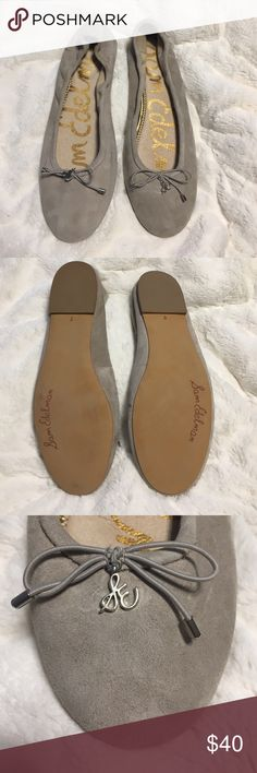 Never worn suede gray Sam Edelman ballet flats Dainty suede Sam Eldeman ballet flats.  Never worn! (My feet grew with pregnancy :/) Sam Edelman Shoes Flats & Loafers