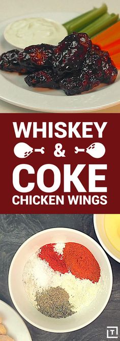 Whiskey & Coke Chicken Wings